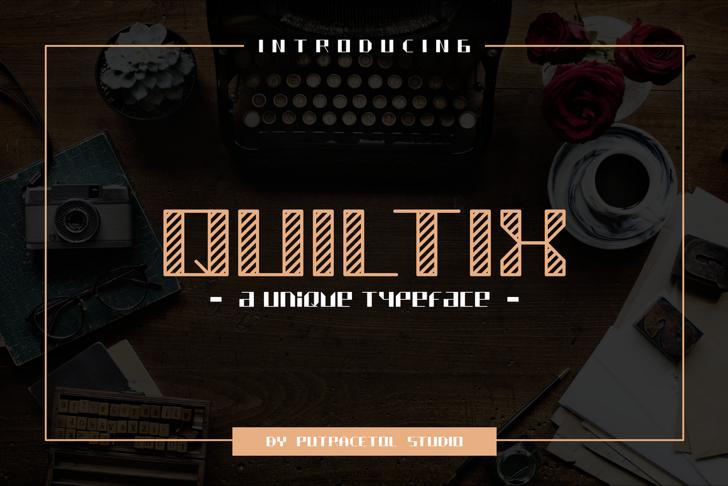 QUILTIX Free Font screenshot indoor