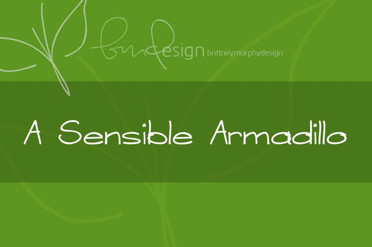 A Sensible Armadillo Font screenshot green