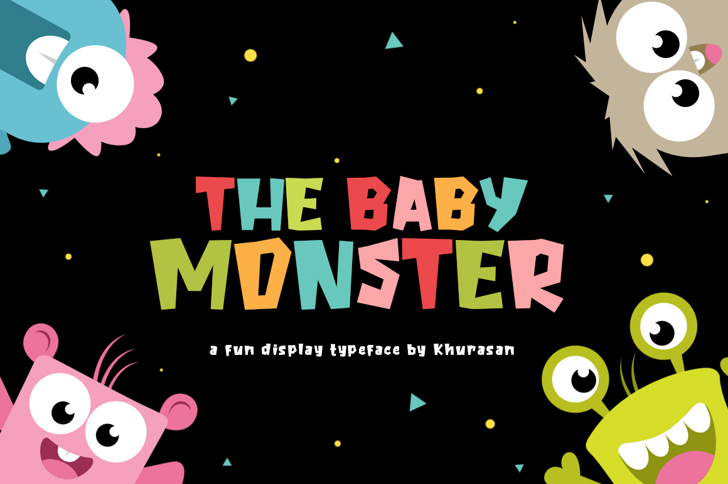 The Baby Monster Font poster