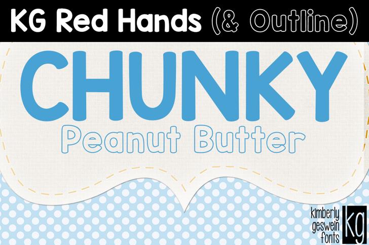 KG Red Hands  Font poster screenshot