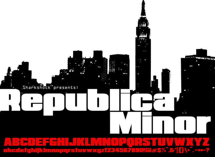 Republica Minor Font skyscraper poster