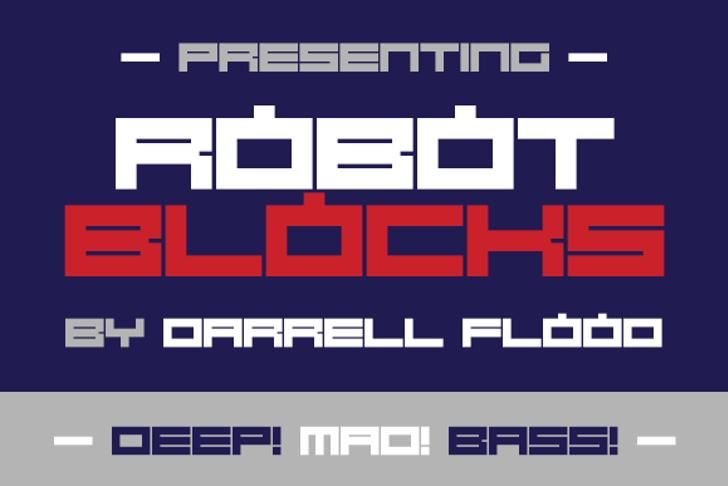 Robot Blocks Font design graphic