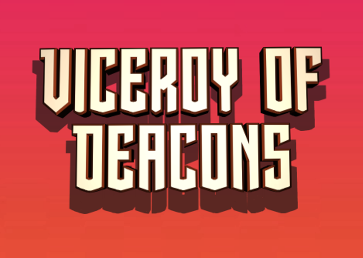 Viceroy of Deacons Font poster graphic