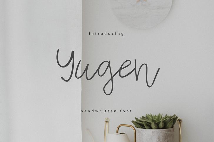 Yugen Font poster