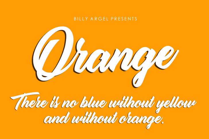 Orange Personal Use Font design text
