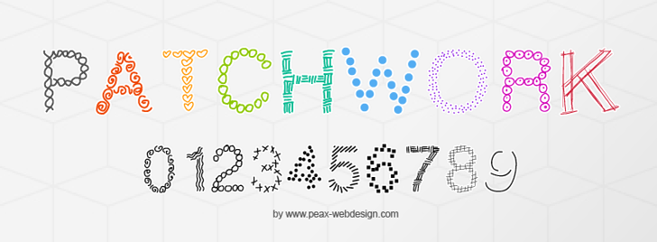PWPatchwork Font text design