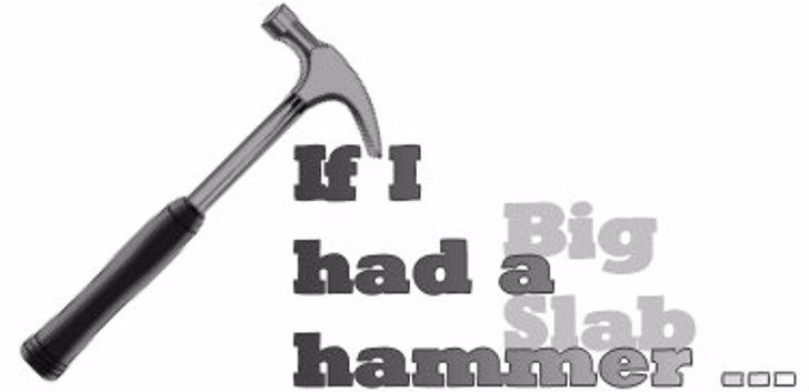 Big Slab Hammer Font design tool