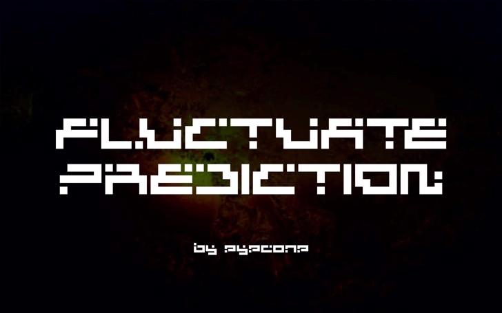 Fluctuate Prediction Font screenshot design