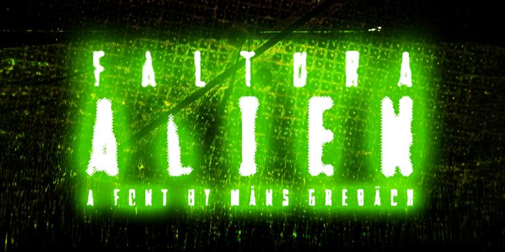 Faltura Alien Font light traffic