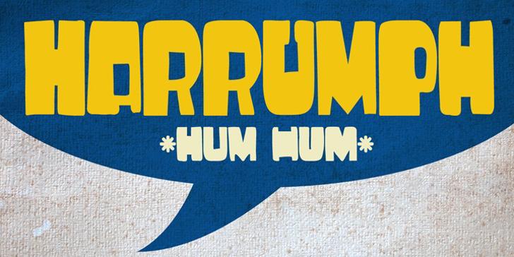 DK Harrumph Font poster design