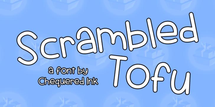 Scrambled Tofu Font design graphic