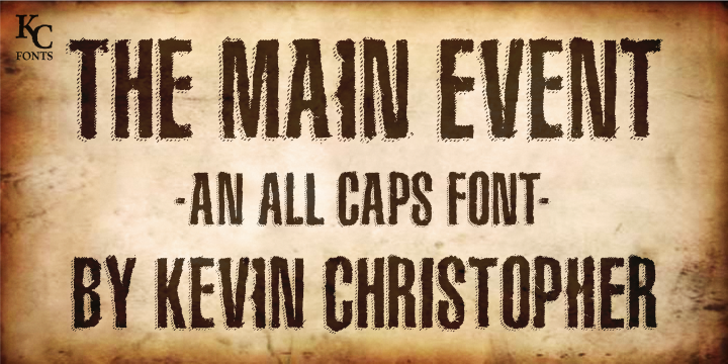 The Main Event Font typography handwriting