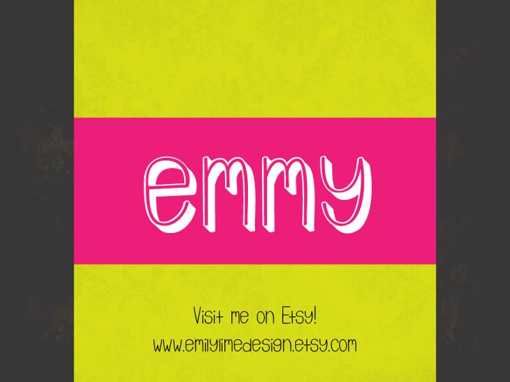 Emmy 3D Font screenshot design