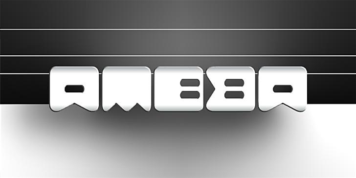 Ameba Font design screenshot
