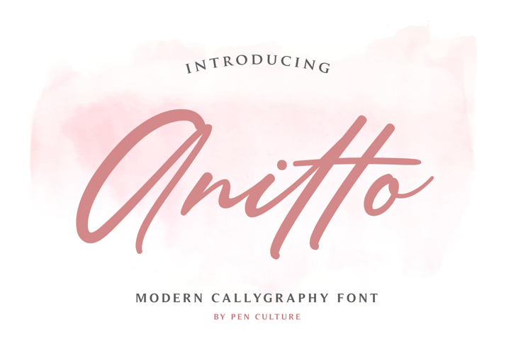 Anitto Font poster