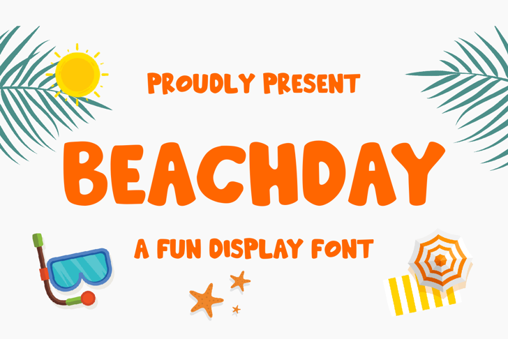 Hooliday Font poster