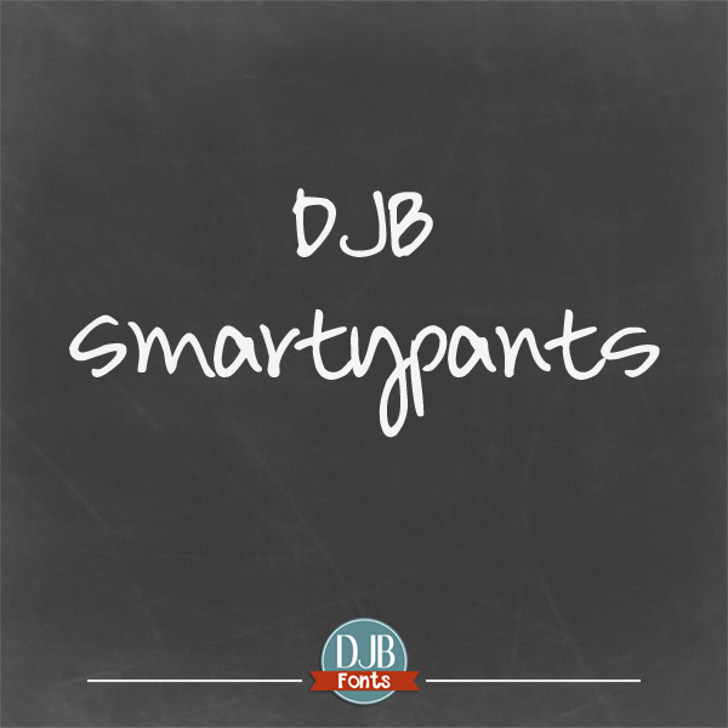 DJB Smarty Pants Font text screenshot