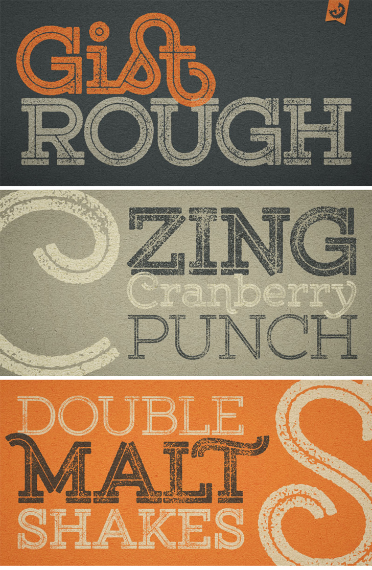 Gist Rough Upr Exbold Two Demo Font poster design