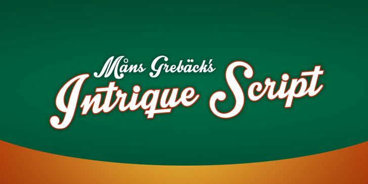Intrique Script Personal Use Font design text