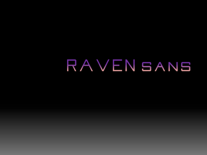 Raven Sans NBP Font screenshot design