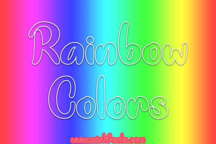 Rainbow Colors Font screenshot graphics