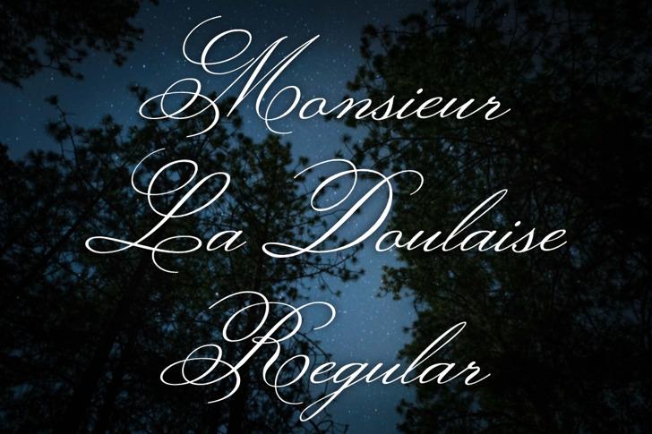 Monsieur La Doulaise Font poster