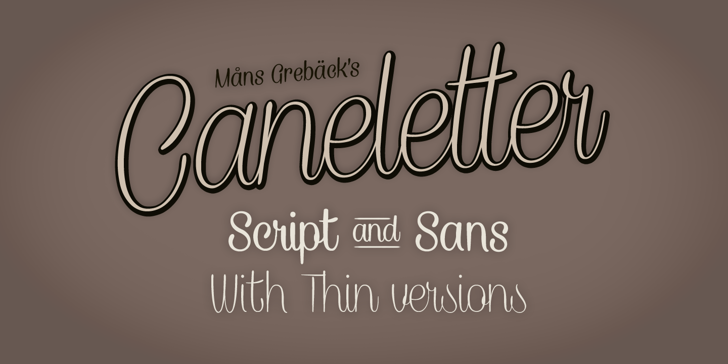 Caneletter Script Personal Use Font text typography