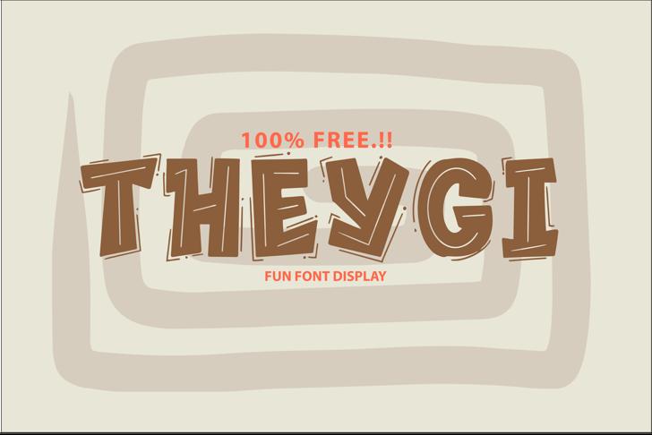 THEYGI Font design screenshot