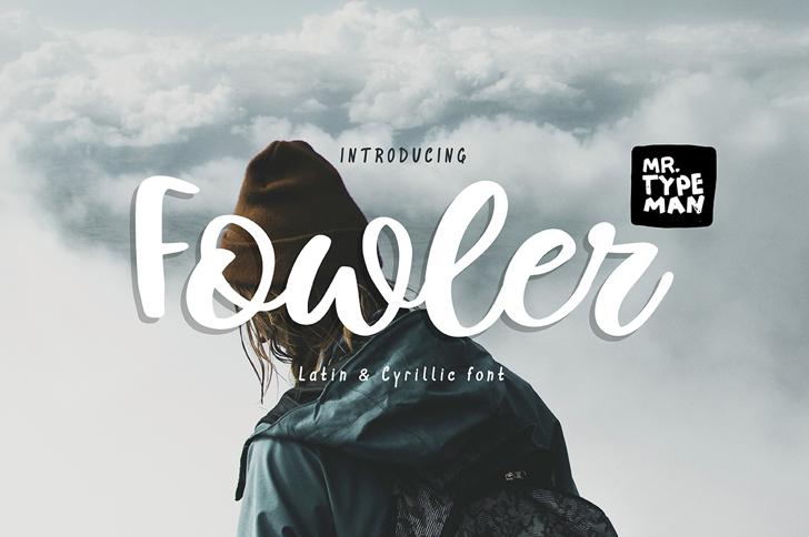 Fowler Font poster screenshot