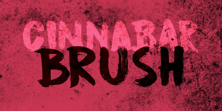 DK Cinnabar Brush Font handwriting poster