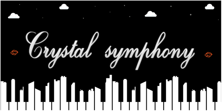 Crystal symphony -  Personal us Font design typography