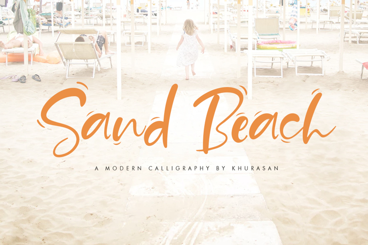 Sand Beach Font handwriting