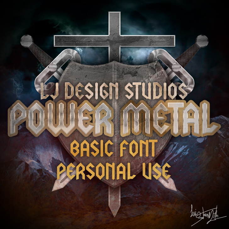 LJ Power Metal PERSONAL USE Font poster screenshot