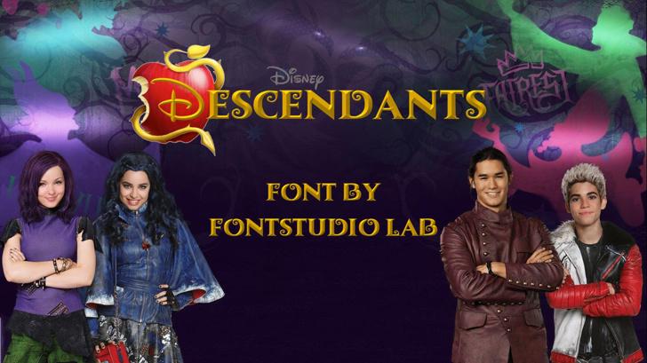 Descendants Font person