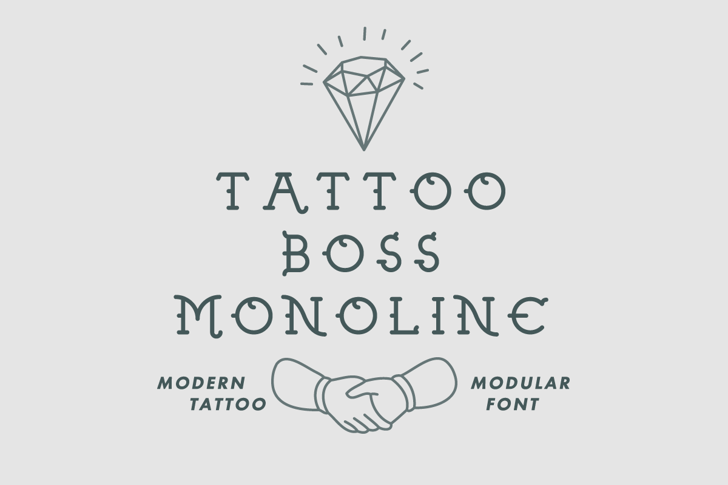 Tattoo Boss Monoline Demo Font design handwriting