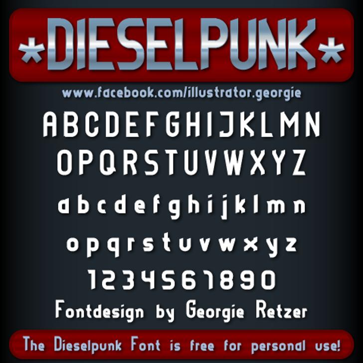 DIESELPUNK Font bottle screenshot