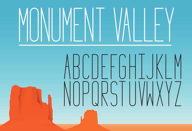 Monument_Valley_1.2 Font screenshot design