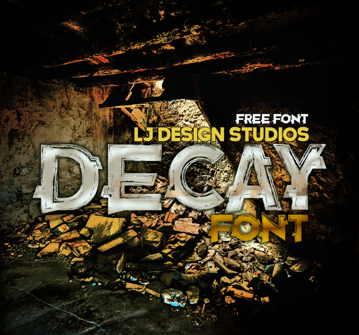 Decay Font screenshot poster