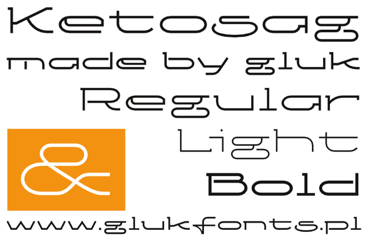 Ketosag Font design graphic