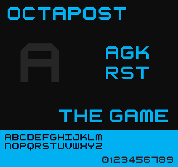 Octapost NBP Font screenshot design