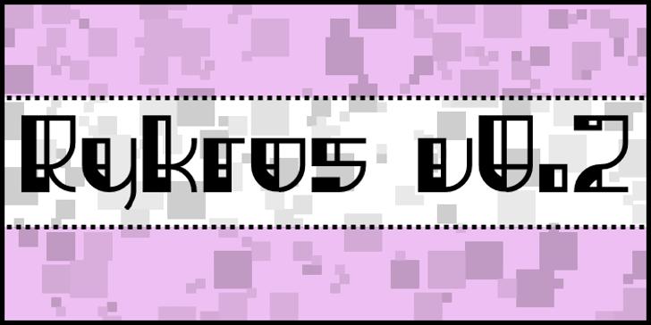 Rykros Font poster