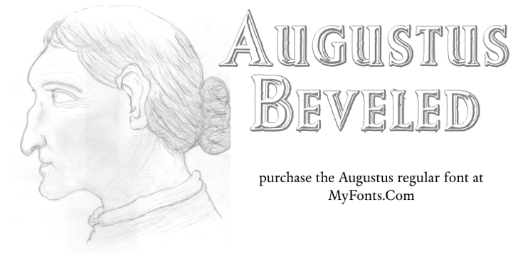 Augustus Beveled Font sketch drawing