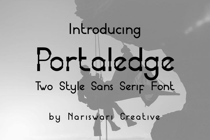 Portaledge Demo Font poster