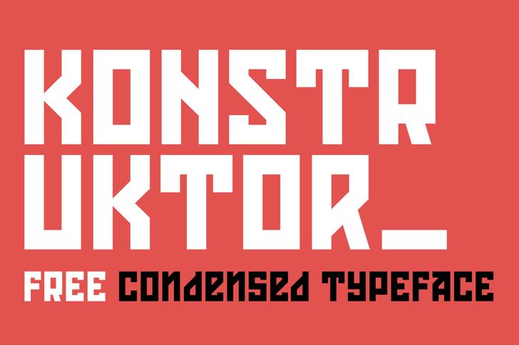 Konstruktor Font poster