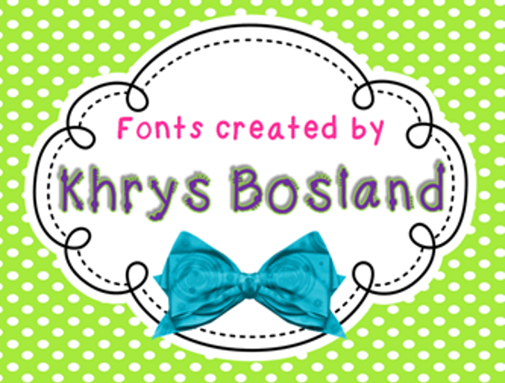 KBChatterBox Font cartoon design