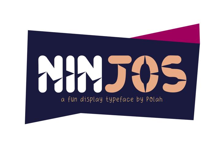Ninjos Font design screenshot