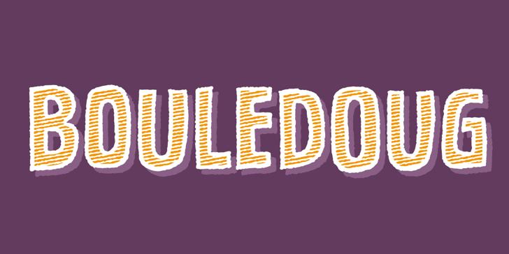 Bouledoug DEMO Font design graphic