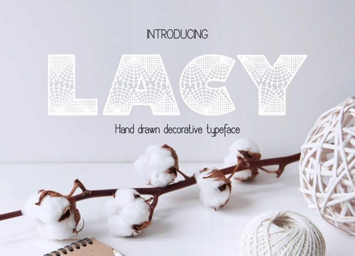 Lacy Font design porcelain
