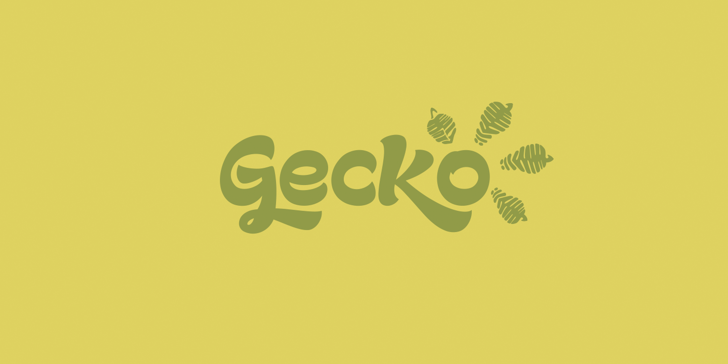 Gecko Personal Use Only Font design illustration