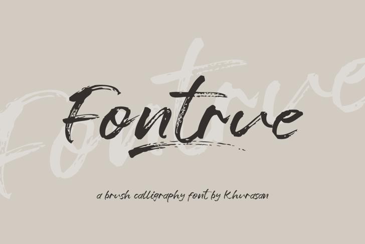 Fontrue Font poster